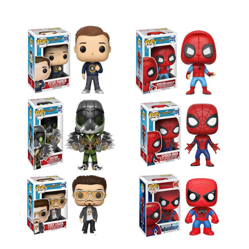Marvel Action Figure 4 Inch Vinyl Bobble Head Figure Spider Man Funko Pop