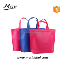 Wholesale cheap eco reusable laminated folding foldable promotional polyester pp non woven laminated shopping bag