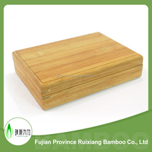 Portable small bamboo wood box with lid wholesale