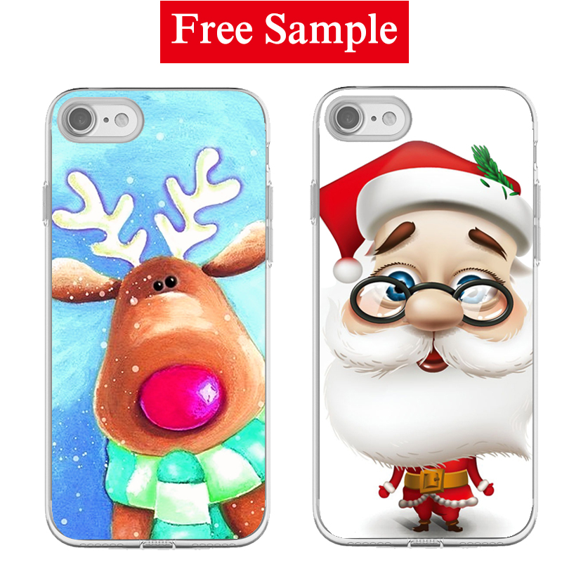 Free sample Santa Claus Phone case for For Apple iPhone 5 5s se humorous Christmas gift phone soft and hard case L/C payment