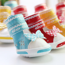China Wholesale Pet Accessories PU Breathable Dog Walking Shoes