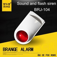 Home security & protection alarm product Fireproof wired waterproof outdoor flashing and strobe siren 12 v ,24v is optional