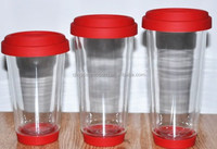 Hot selling Pyrex glass coffee cup silicone sleeve and lid