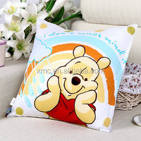 Digital sublimation printed rainbow bear micro bean filled fancy soft positioning baby animal pillow