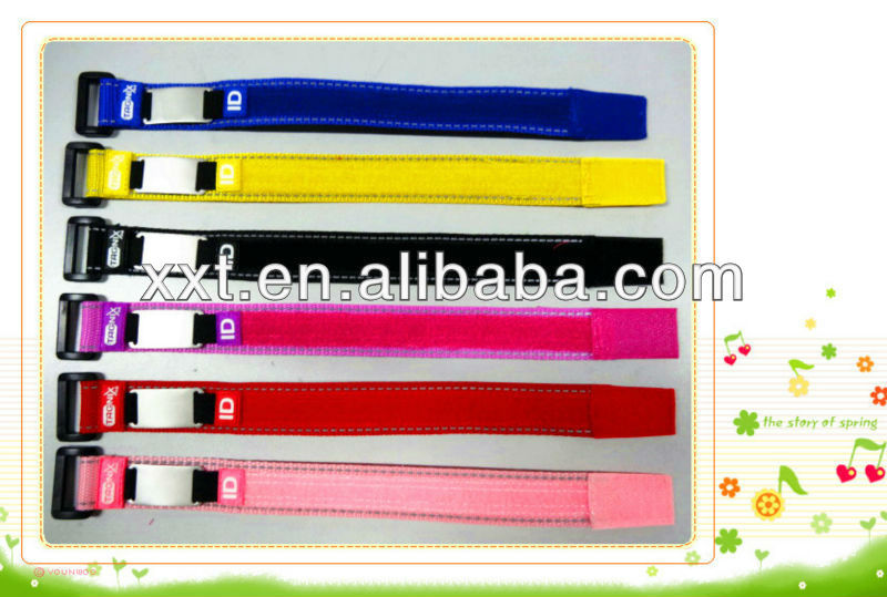 Adjustable velcro ID Sports Wristband bracelet