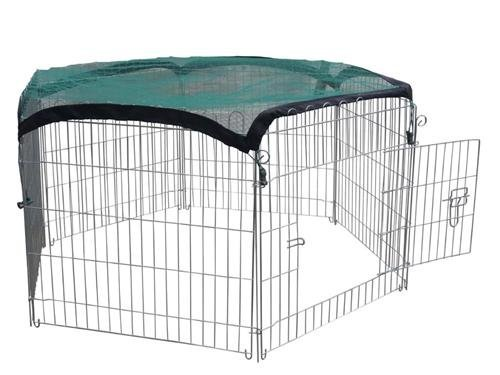 Pet Playpen fence enclosure with protective net and door