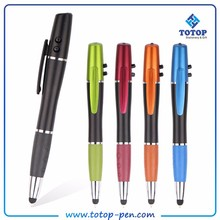 Social Audit factory Newest style led torch light pen with stylus