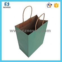 Wholesale custom recycle brown kraft shopping paper gift bag manufacturer