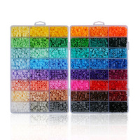 Educational Kids Toys 48 Colors Tray Fuse Beads CS48