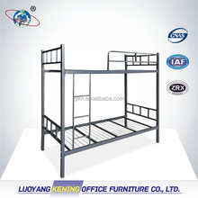 Metal Heavy Duty Adult Iron Steel Double Bunk bed for school dormitory or army or hotel and camp Refugee