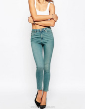 High Rise Top Design Jeans Denim Jeans Sexy Skinny Girls Tight Jeans SK018