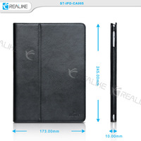 Embossing customerize logo stand flip leather case ,Luxury Leather Holder Case for Apple iPad Air 2