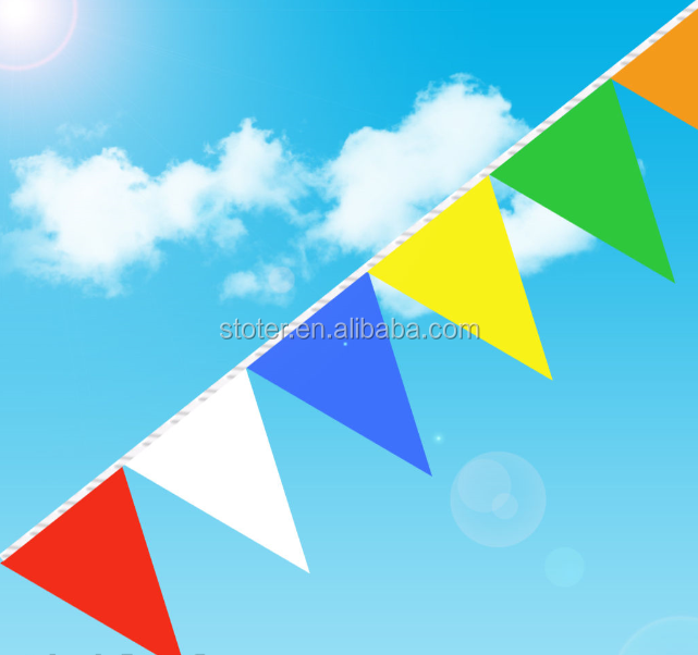 CUSTOM SIZE COLORED PENNANT STRING / BANNER