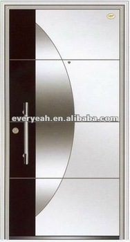 GALVANIZED ZINC STEEL ENTRANCE DOOR WITH EJ-GS-002