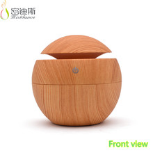 Spa room 130ml mini size USB wood grain humidifier aroma diffuser