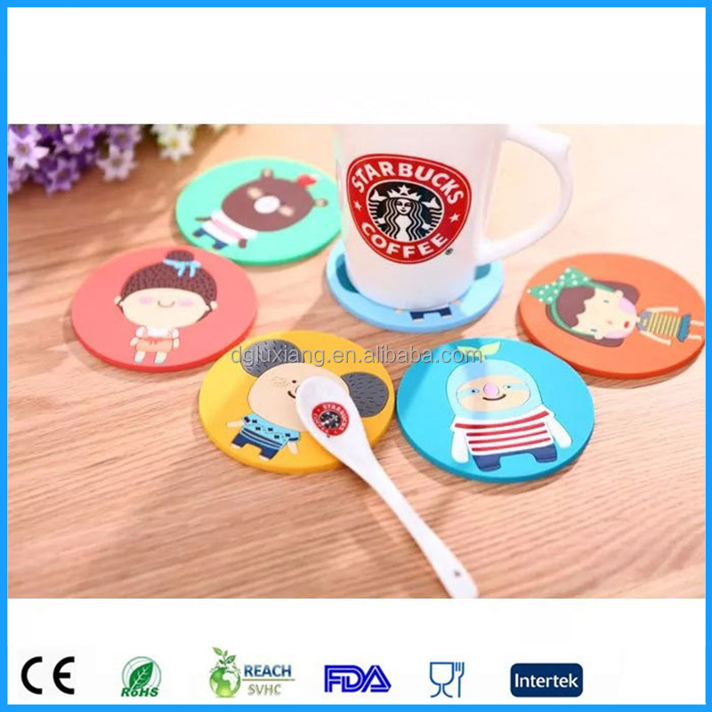 cute shape baking pad / record shape silicone cup mat/silicone mats for family