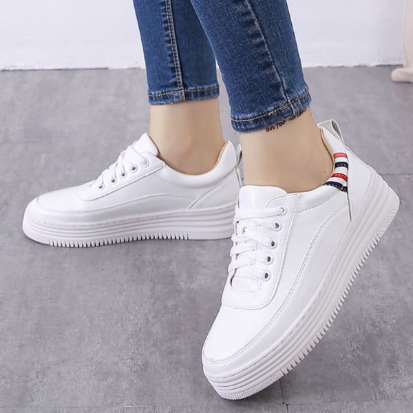KS00423A Korea Style Simple Designs Round Toe Large Size Sneakers Casual Athletic Shoes