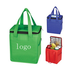 Promotion cheap customize logo print lunch Non Woven insulated cooler bags