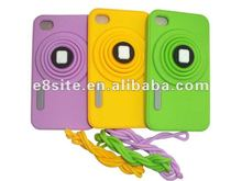 Camera Design 3D Silicone Case For iPod Touch 4