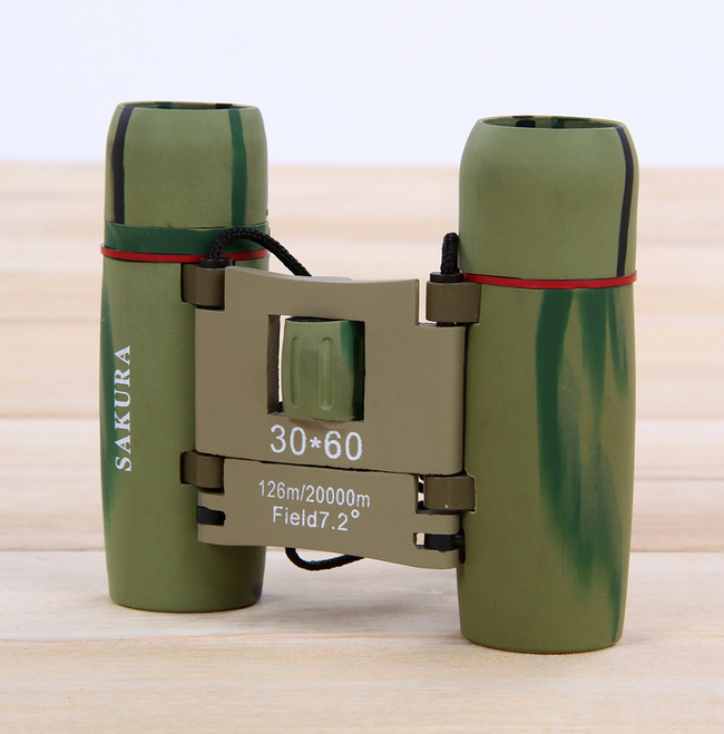 hot sell WSK3060 have CE Sakura Binoculars Zoom Adjustable Portable Telescope high resolution binoculars 30X60