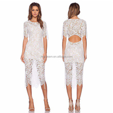 cheap wholesale new hot style backless lace embroidry long dress cg930