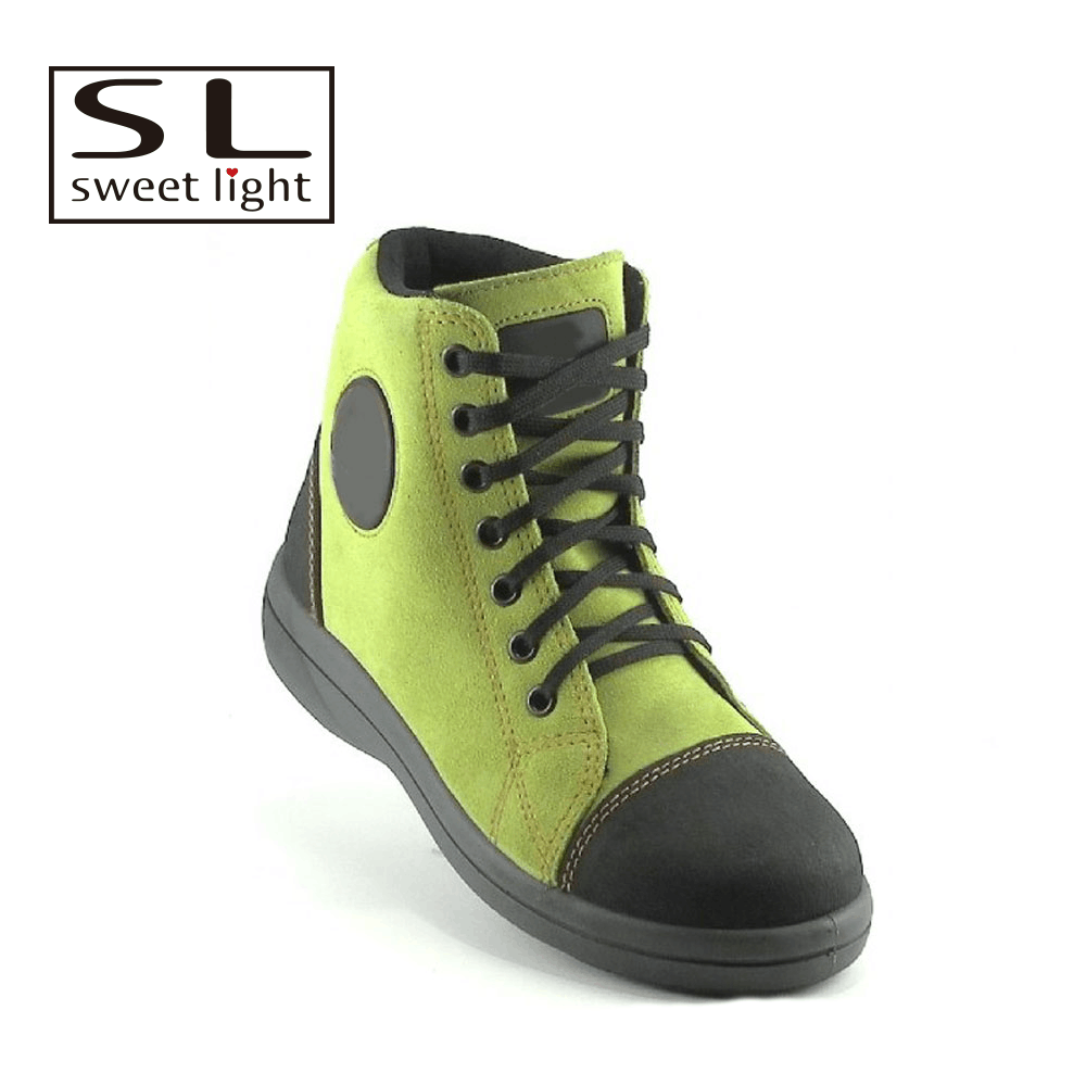 leather ladies steel toe safety shoes