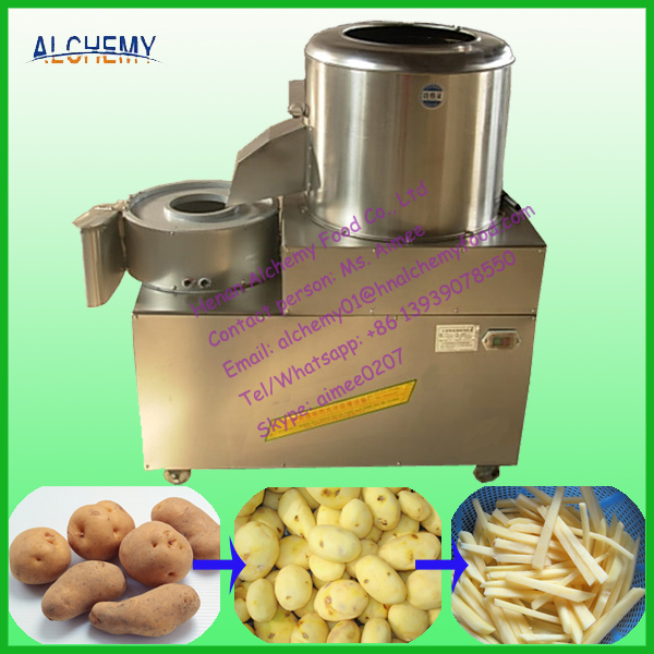 automatic sweet potato peeling and cutting machine