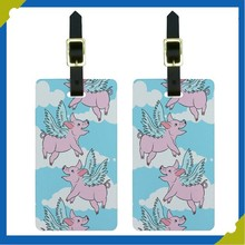 Rubber Pet Dog Luggage Suitcase Carry-On ID Tags