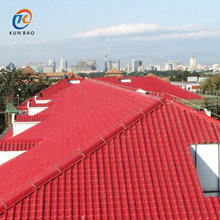 Fadeless Spanish style ASA synthetic resin Pvc Plastic tile Roofing Sheets With Red Color