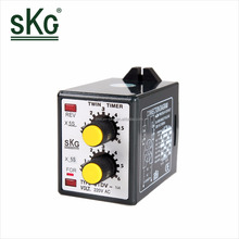 CTDV-N4 high quality intelligent 8-Pin Mini Double Knob Industrial Electric Panel Timer Relay1.2s,6s,12s,30s