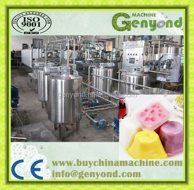 commercial jelly snack processing machine / pudding making machine