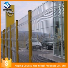 RAL 6005 pvc coated wire mesh fence for boundary wall