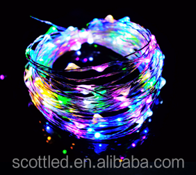 RGB led string lighting copper wire 10m 100leds 12V lighted window decorations for christmas