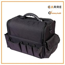 professional polyester fabric cosmetic case soft makeup train case