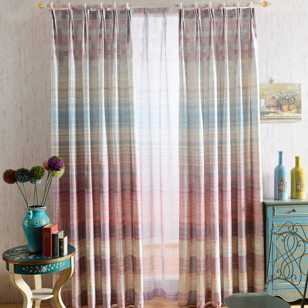 2018 top quality hand block printed curtain drape