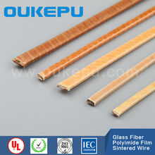 Index200C heat resit corona resist yarn wrapped polyimide film sintered rectangular copper wire