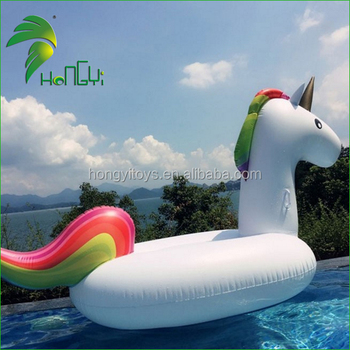 Customized PVC Inflatable Huge Unicorn Pool Floats For Pool Time! Surprise Visitor!