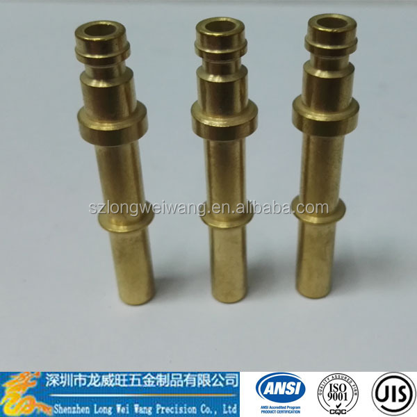 high quality brass pipe fitting/through joint type/connector