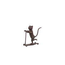Animal sculptures cats playing cast iron bronze sculptures for gifts