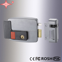 Exporting Electric Rim lock, brass cylinder, used for access control system