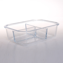 Liquid proof glass eco friendly lunch box with airtight lid