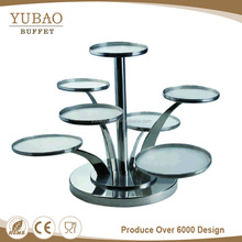 Catering Fancy Wedding Decoration Cake Display Racks, 7 Tier Rotating Cake Display Stand