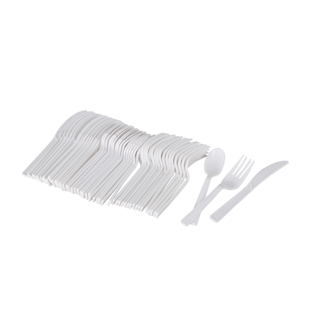 plastic spoon and fork set & flatware set