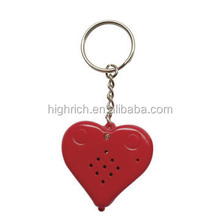 Hot sale multi-color and shape sound keychain