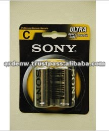 High Quality Sony Zinc Carbon Dry C Battery
