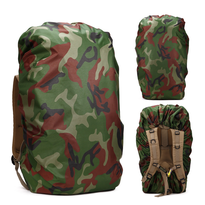 AL000122 4 Colors Camouflage Rain Cover For 60--80L Outdoor Mountaineering Bag