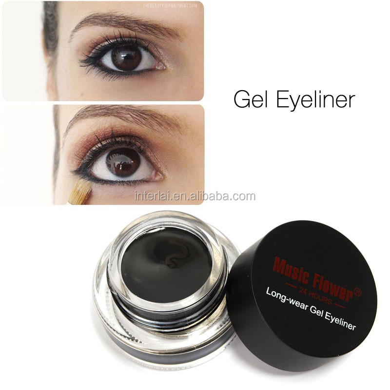 Music Flower Makeup Cosmetics Gel Eyeliner With Brush M1009,guizhou