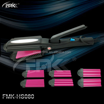 Hot Interchangeable Salon equipment Hair Wave and Strightener 4 in 1 Multi hair Iron