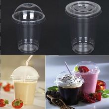 reusable plastic cup with lid / large plastic cover / big food container Green paper cup