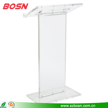 Floor Standing Clear Acrylic Podium Lectern Pulpit